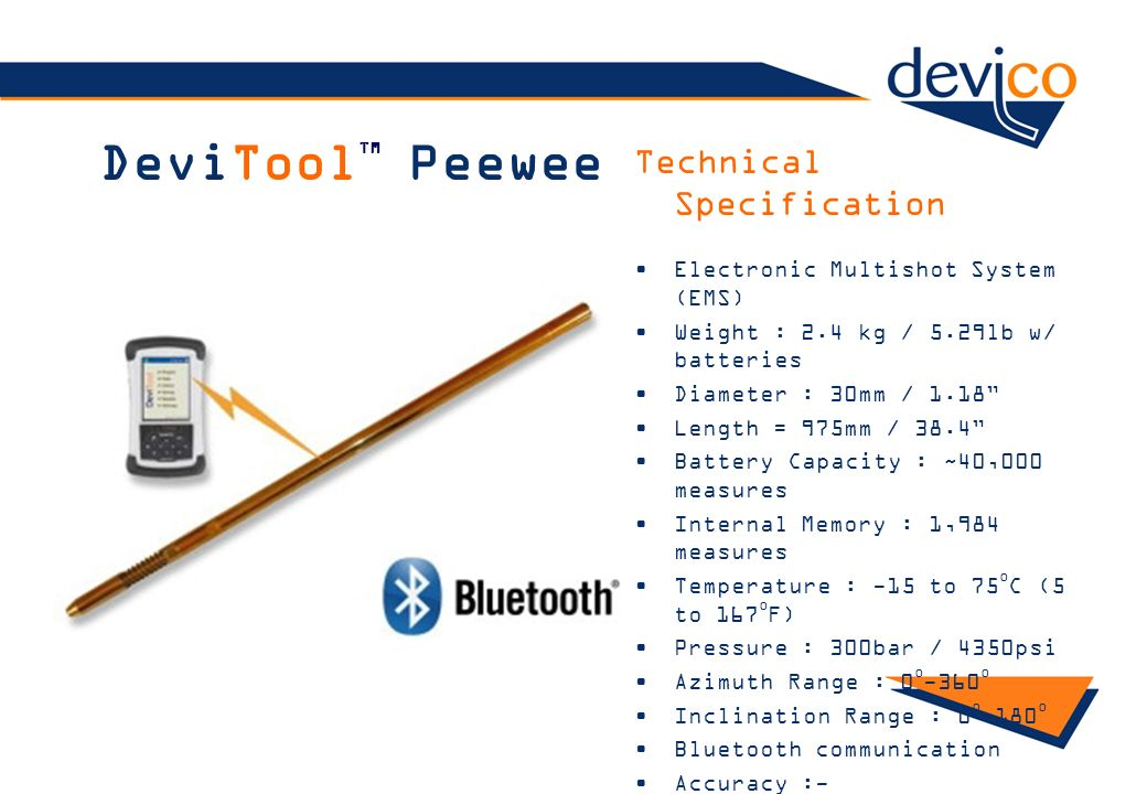 DeviToolTM Peewee Technical Specification