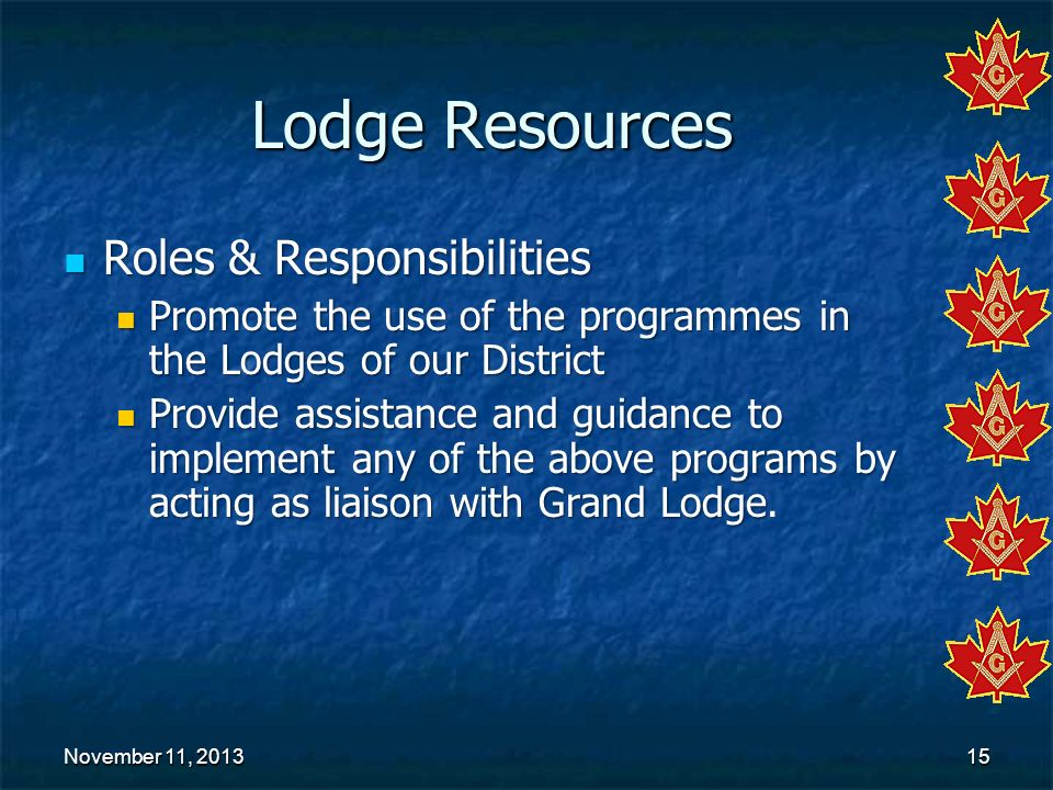 Lodge Resources Roles & Responsibilities