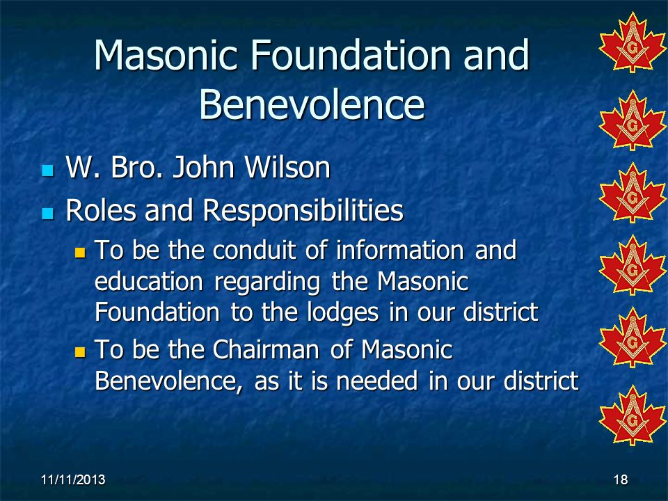 Masonic Foundation and Benevolence