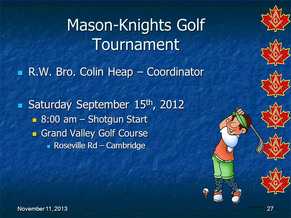 Mason-Knights Golf Tournament