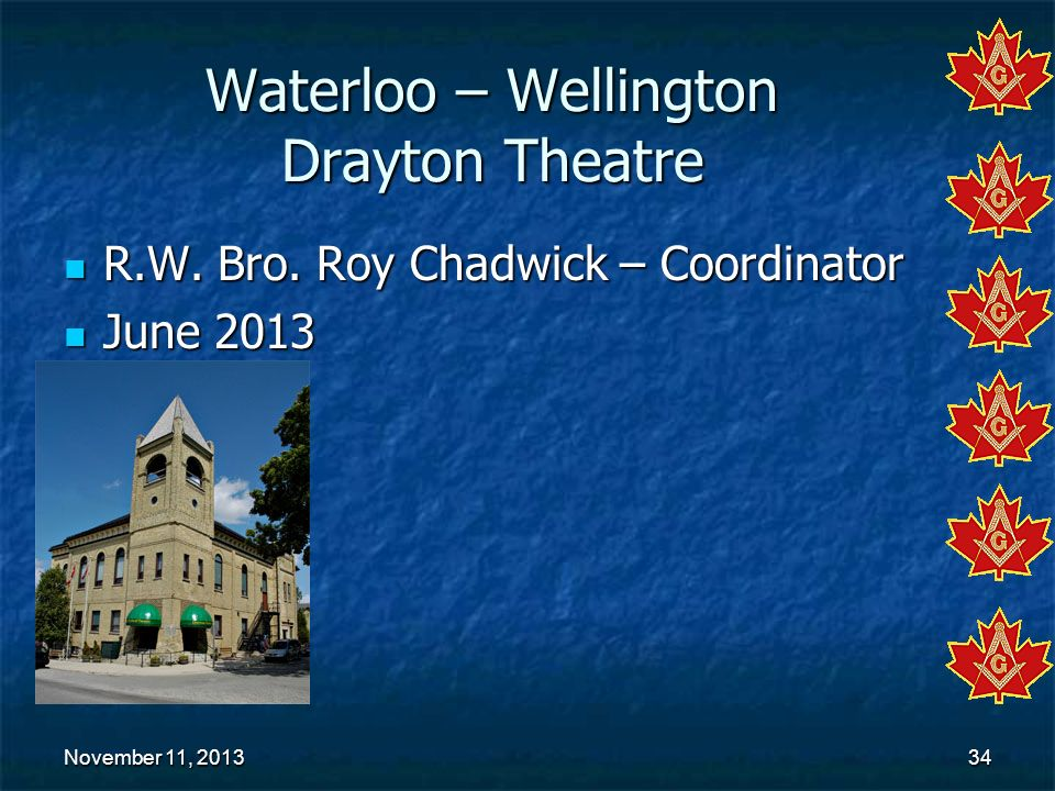 Waterloo – Wellington Drayton Theatre