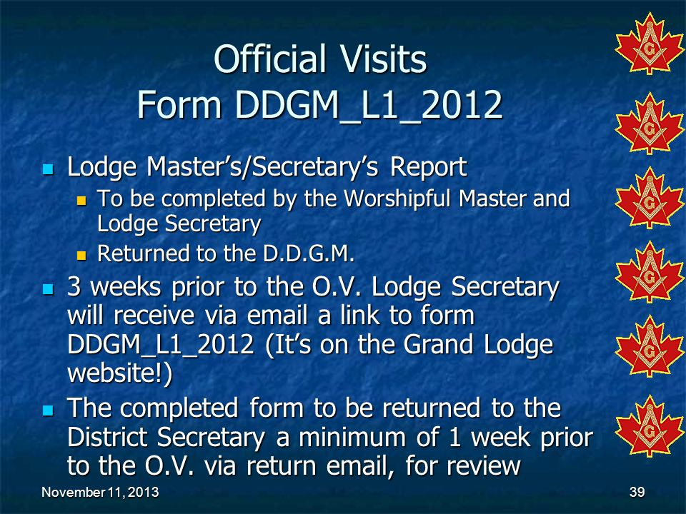 Official Visits Form DDGM_L1_2012