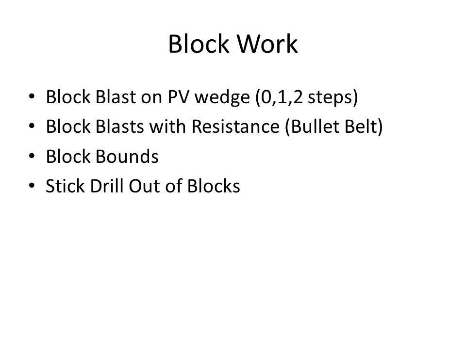 Block Work Block Blast on PV wedge (0,1,2 steps)