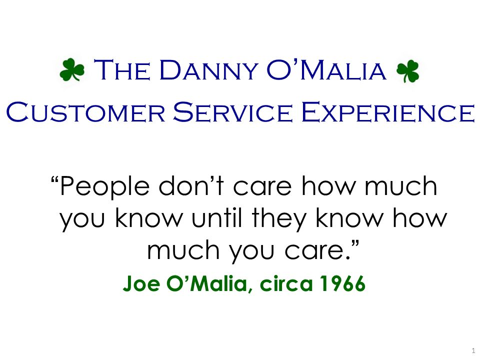 Customer Service Experience