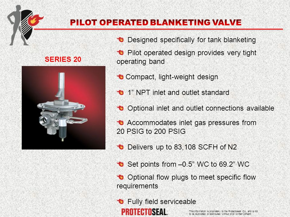PILOT OPERATED BLANKETING VALVE