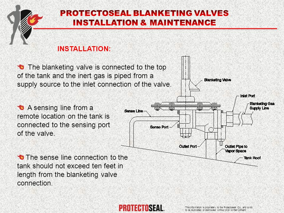 PROTECTOSEAL BLANKETING VALVES INSTALLATION & MAINTENANCE