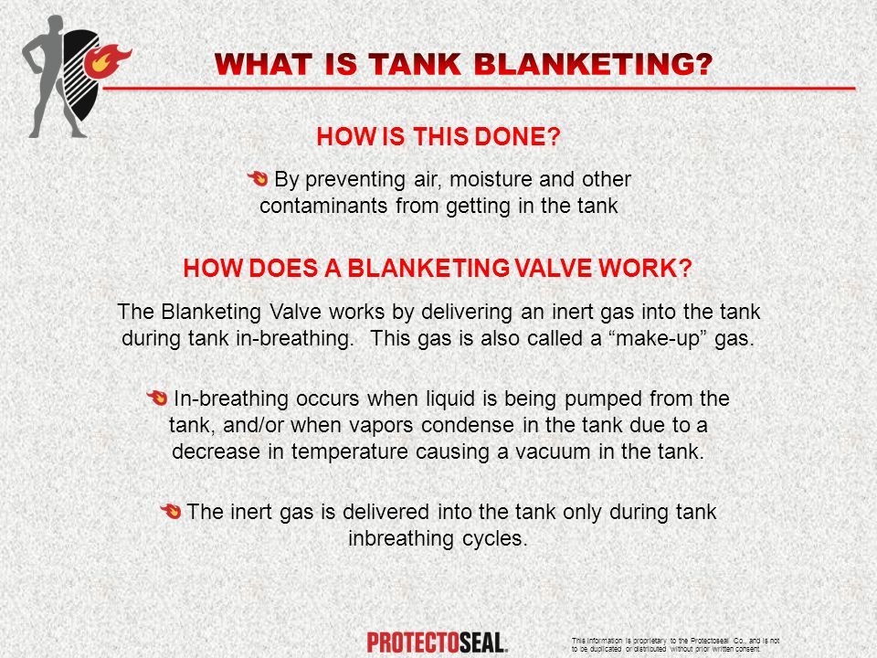 HOW DOES A BLANKETING VALVE WORK