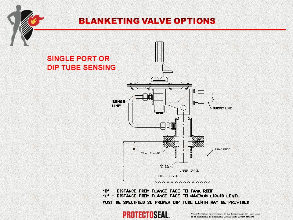 BLANKETING VALVE OPTIONS