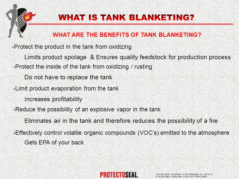 WHAT ARE THE BENEFITS OF TANK BLANKETING