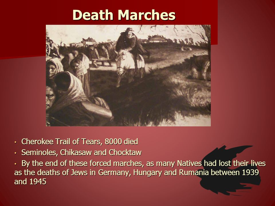 Death Marches Cherokee Trail of Tears, 8000 died