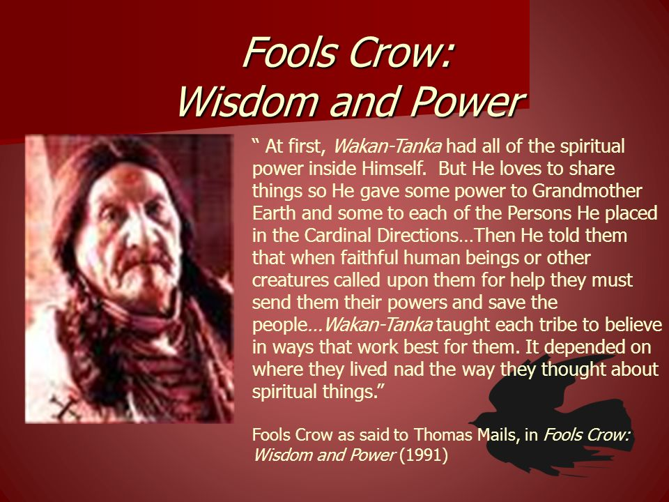 Fools Crow: Wisdom and Power