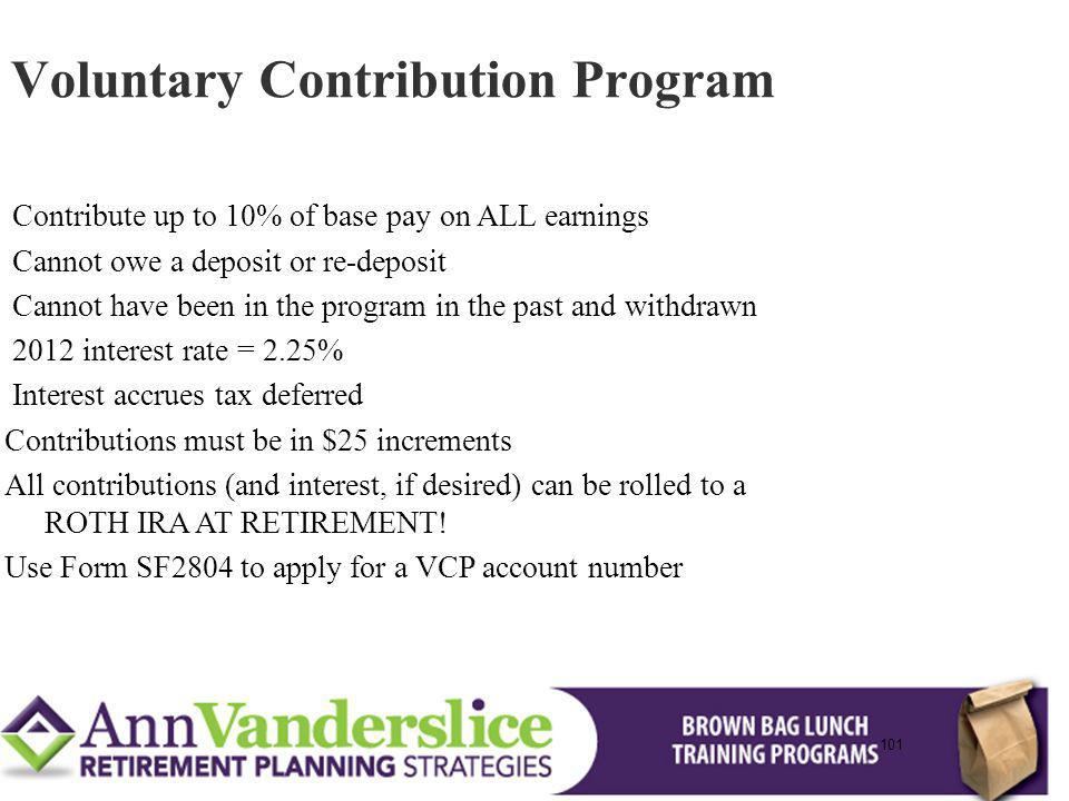 Voluntary Contribution Program