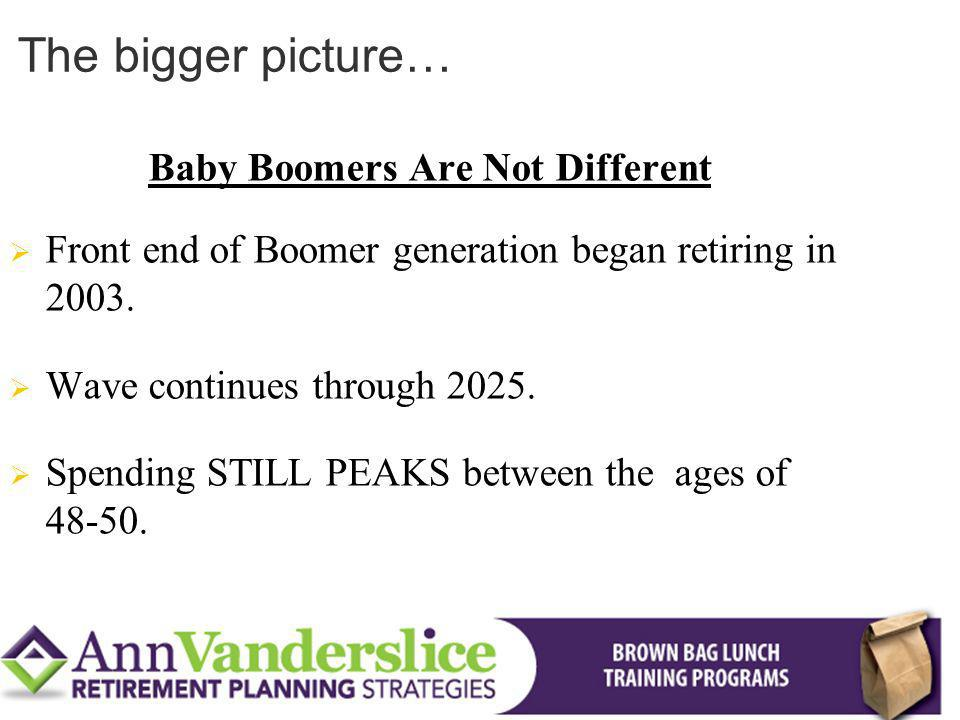 Baby Boomers Are Not Different