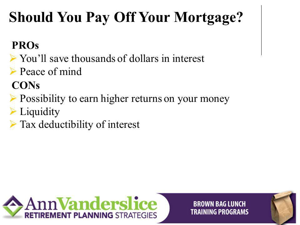 Should You Pay Off Your Mortgage