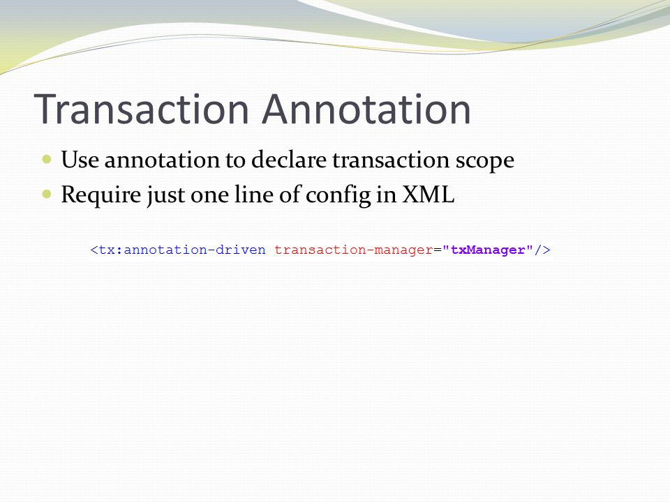 Transaction Annotation