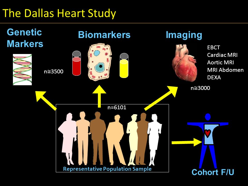 The Dallas Heart Study Genetic Markers Biomarkers Imaging Cohort F/U