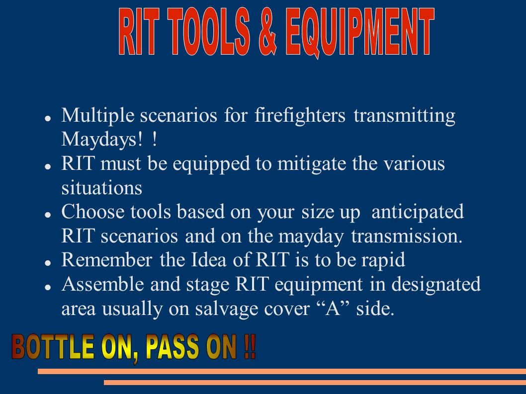 RIT TOOLS & EQUIPMENT BOTTLE ON, PASS ON !!