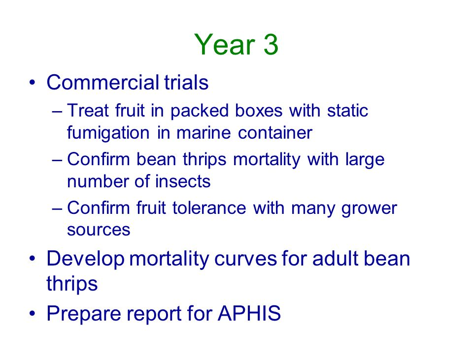 Year 3 Commercial trials
