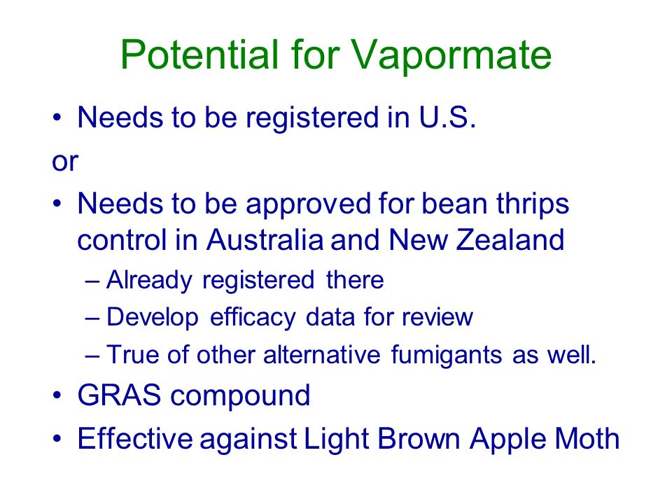Potential for Vapormate