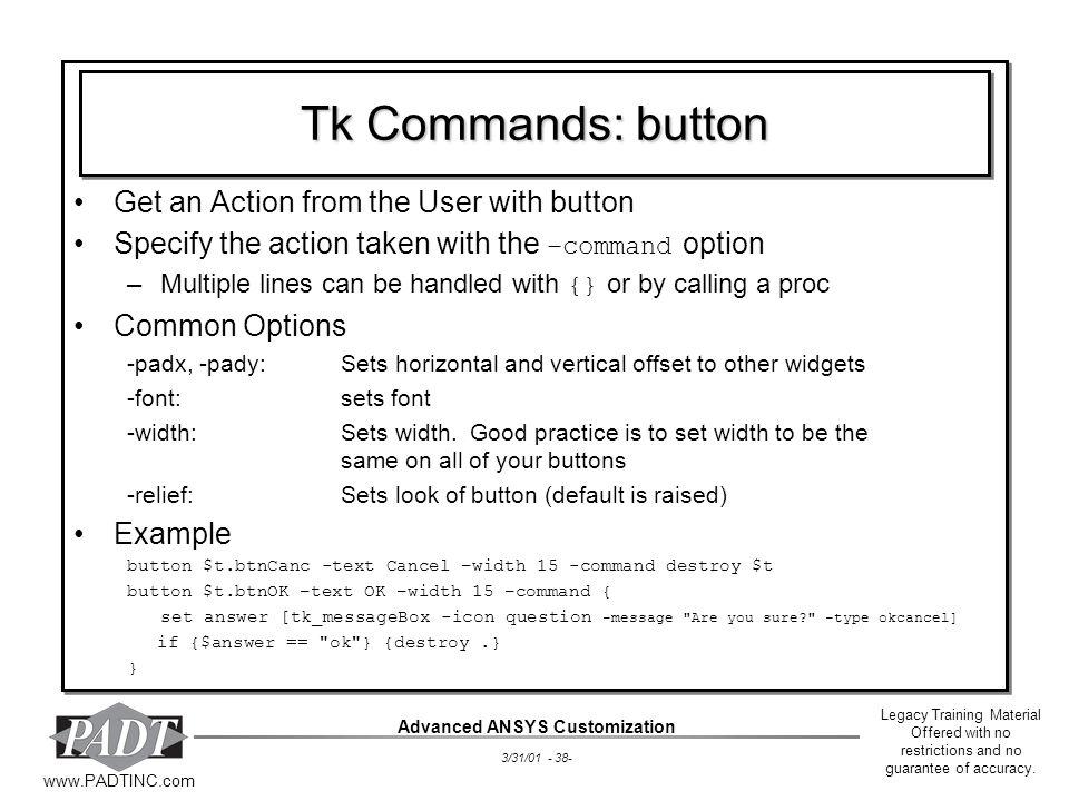 Advanced ANSYS Customization - ppt download