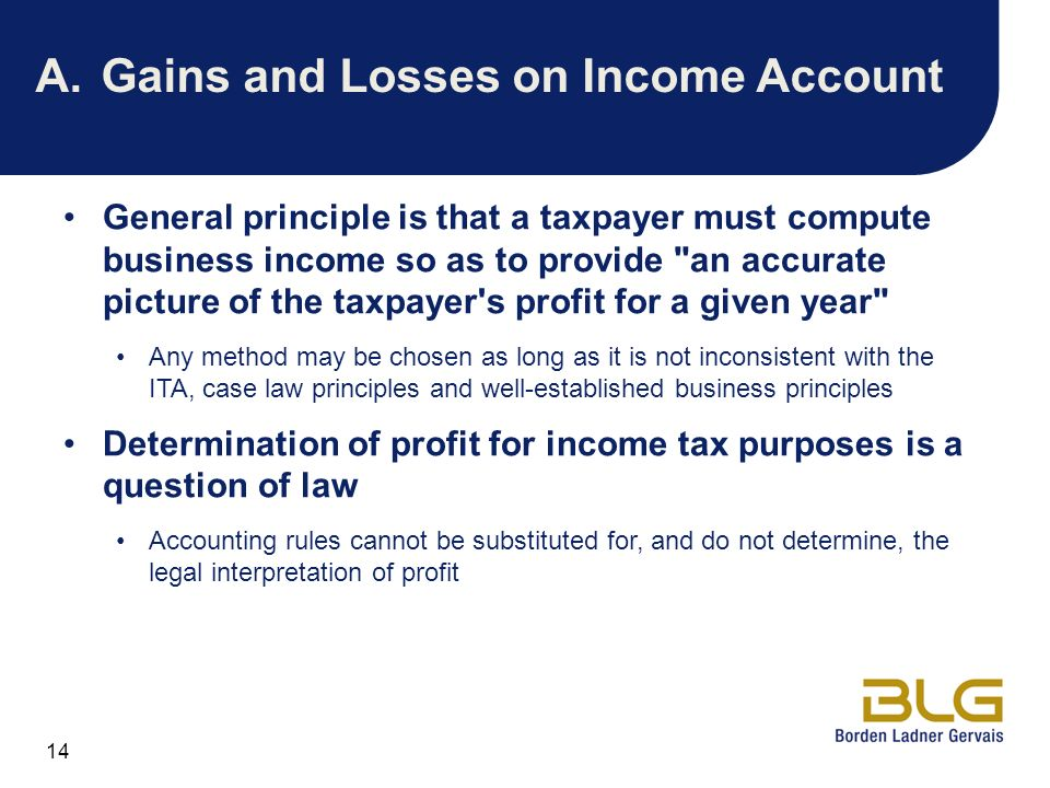 A. Gains and Losses on Income Account