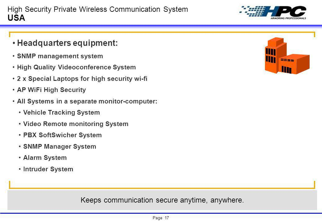 High Security Private Wireless Communication System USA