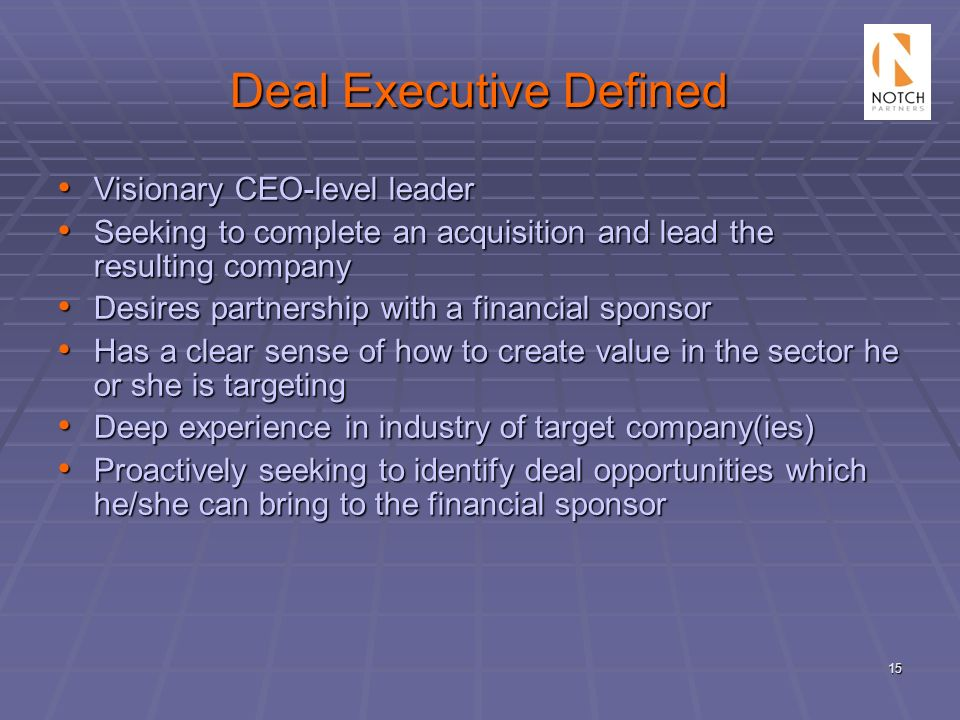 Deal Executive Defined
