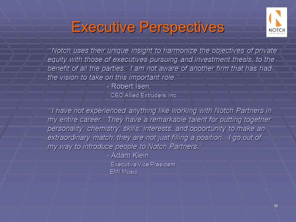 Executive Perspectives