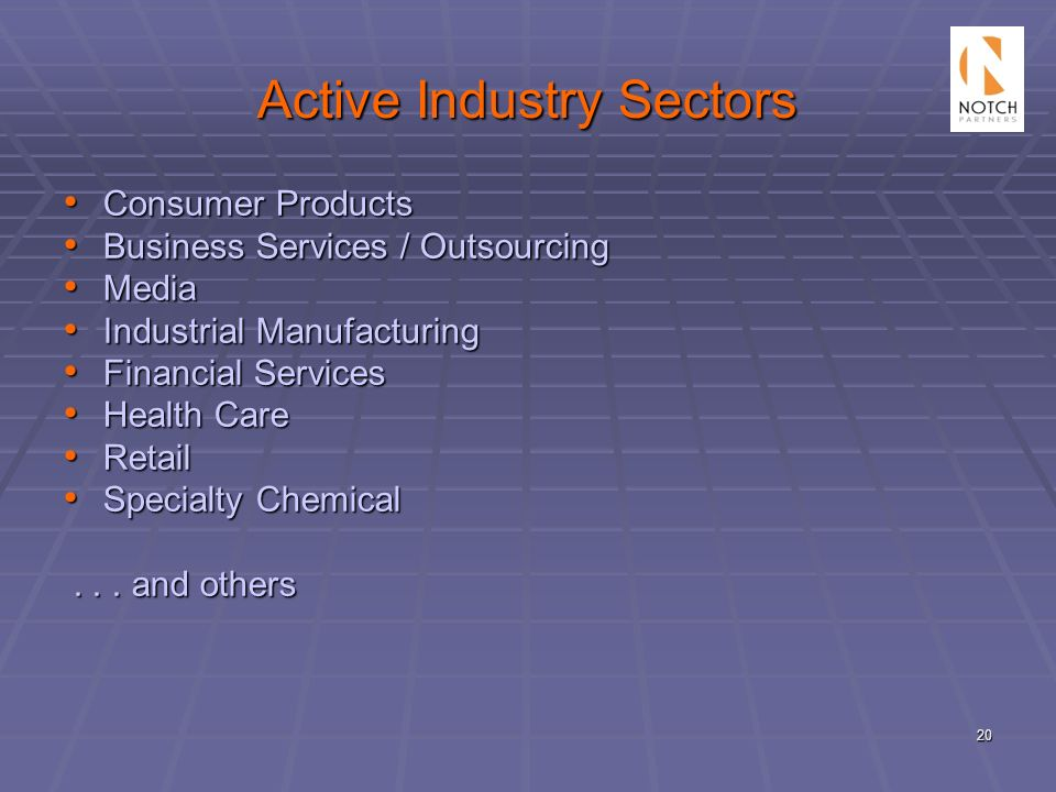 Active Industry Sectors