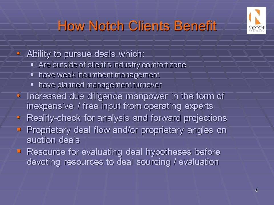 How Notch Clients Benefit