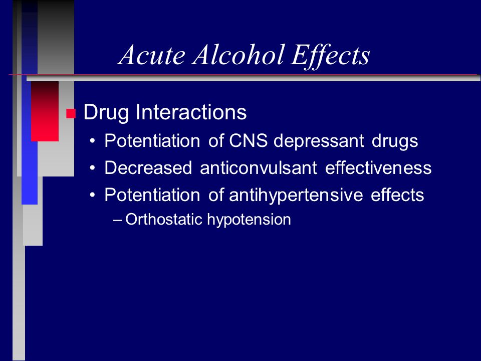 Acute Alcohol Effects Drug Interactions