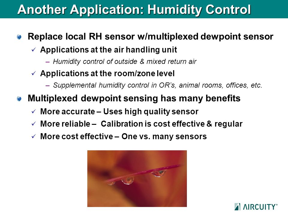 Another Application: Humidity Control