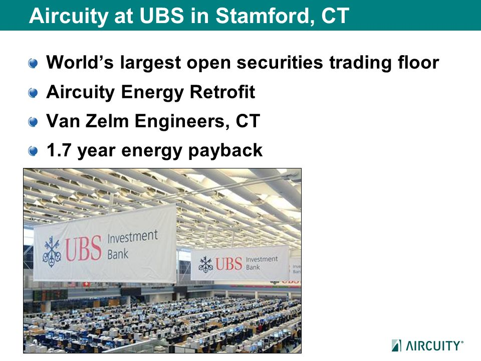 Aircuity at UBS in Stamford, CT