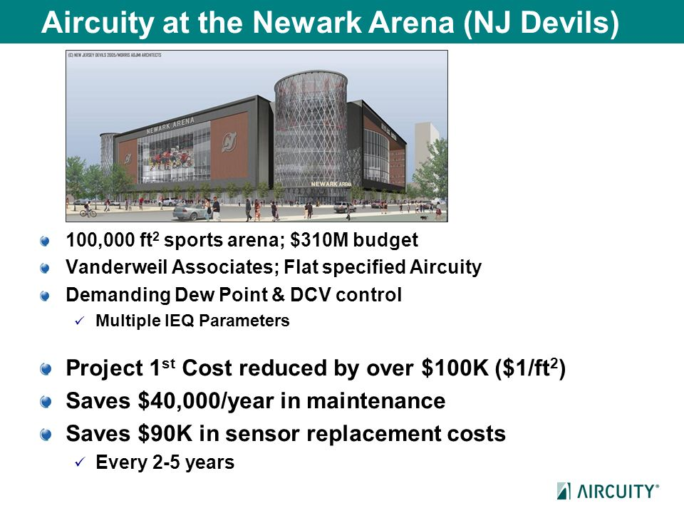 Aircuity at the Newark Arena (NJ Devils)