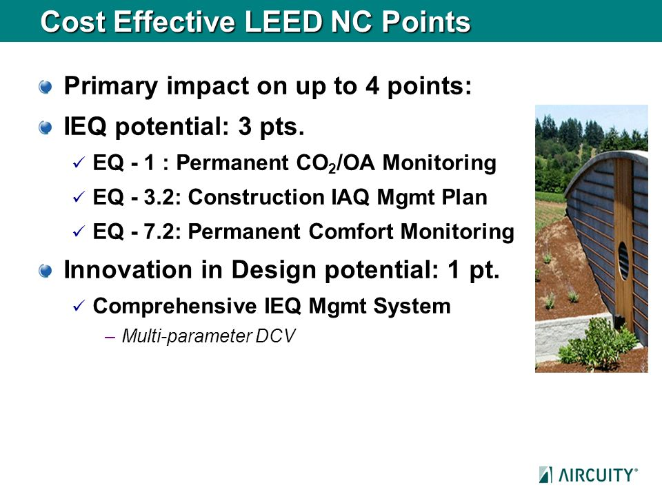 Cost Effective LEED NC Points