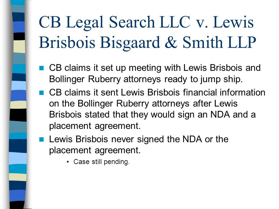 CB Legal Search LLC v. Lewis Brisbois Bisgaard & Smith LLP