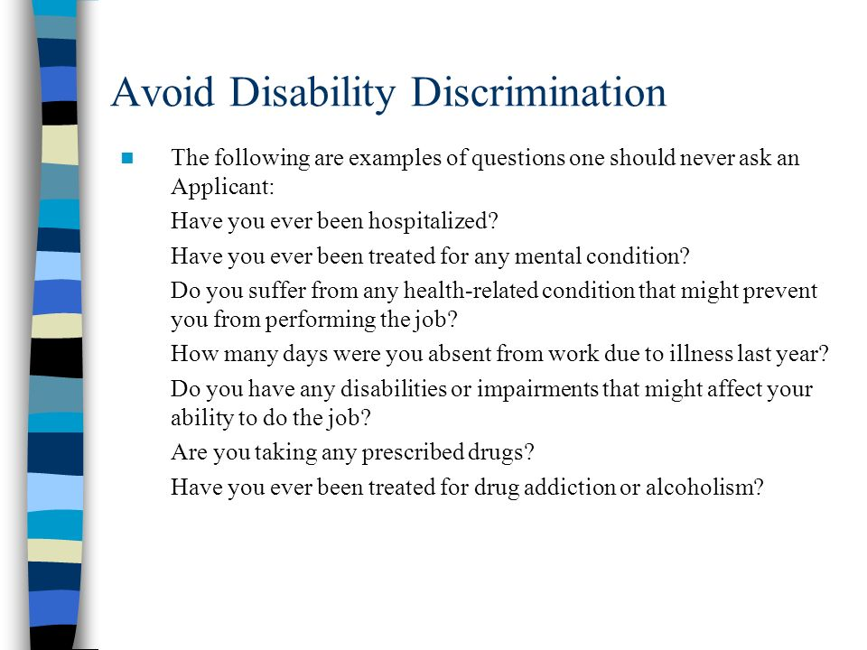 Avoid Disability Discrimination