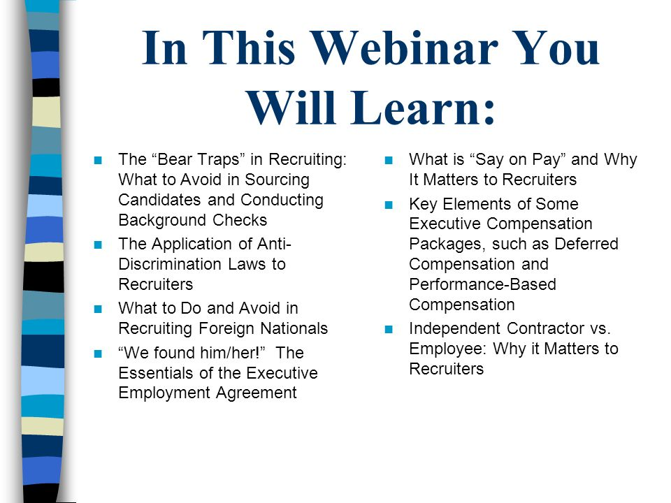 In This Webinar You Will Learn: