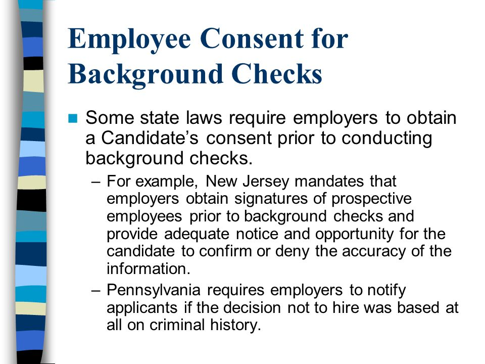 Employee Consent for Background Checks