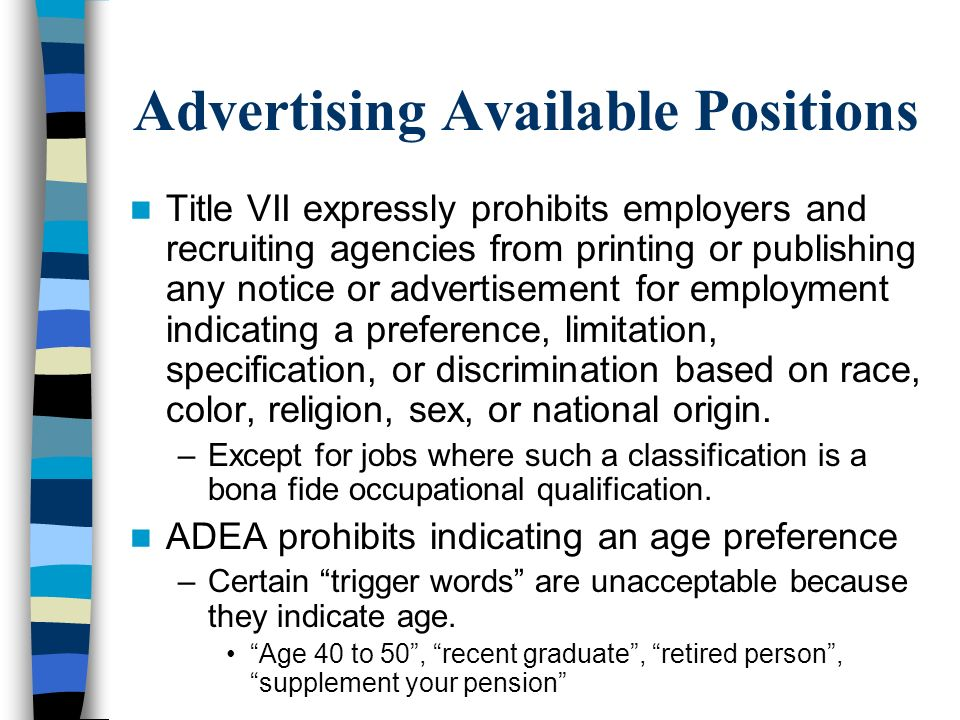 Advertising Available Positions