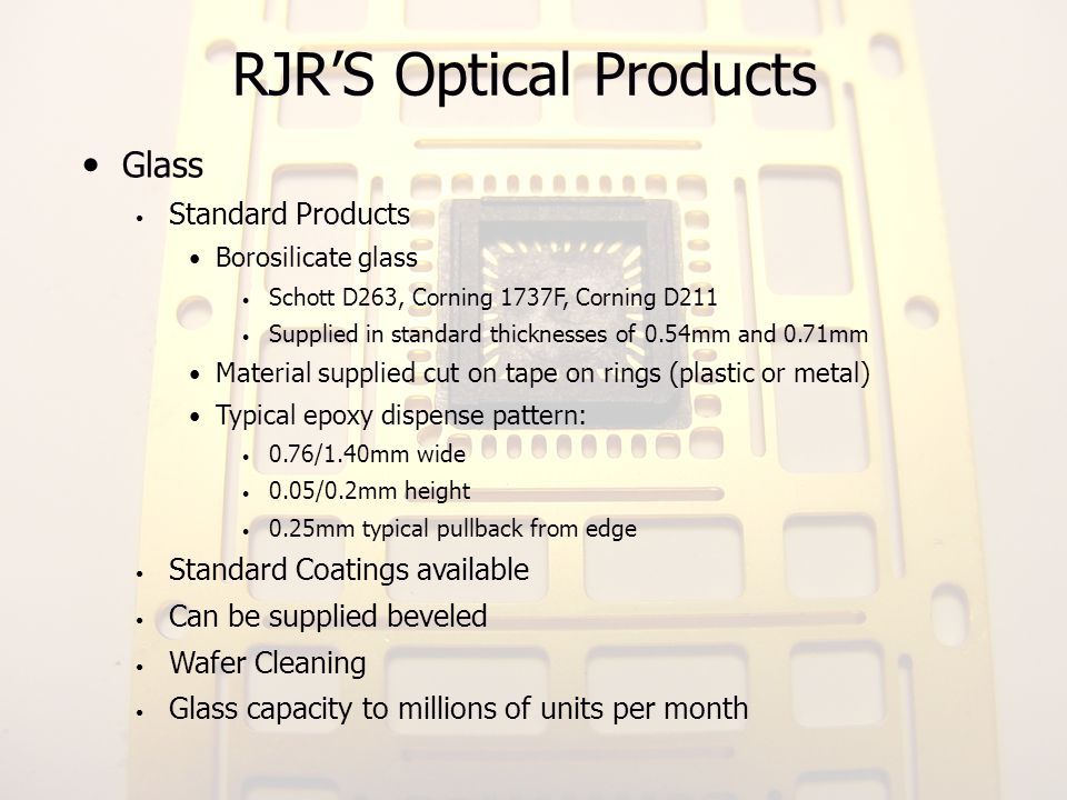 RJR'S Optical Products