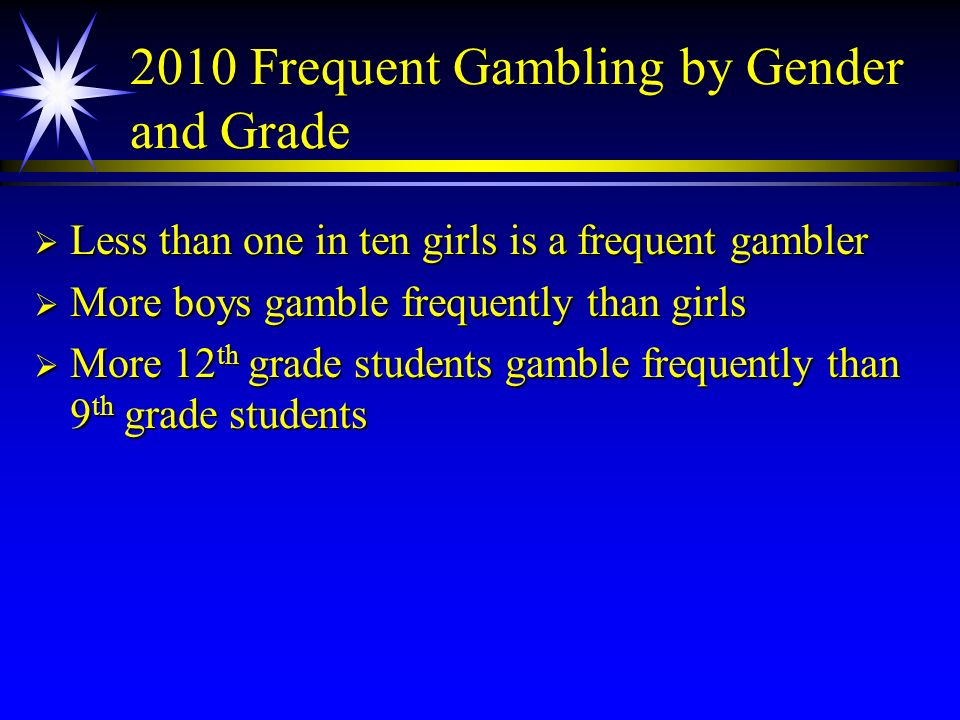 2010 Frequent Gambling by Gender and Grade