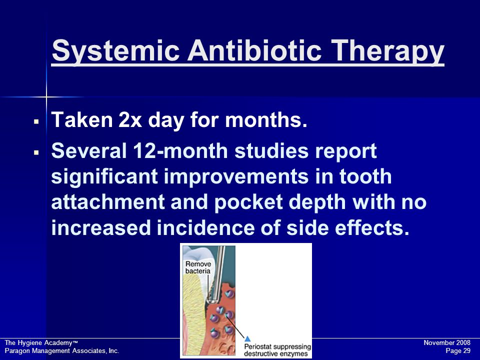 Systemic Antibiotic Therapy