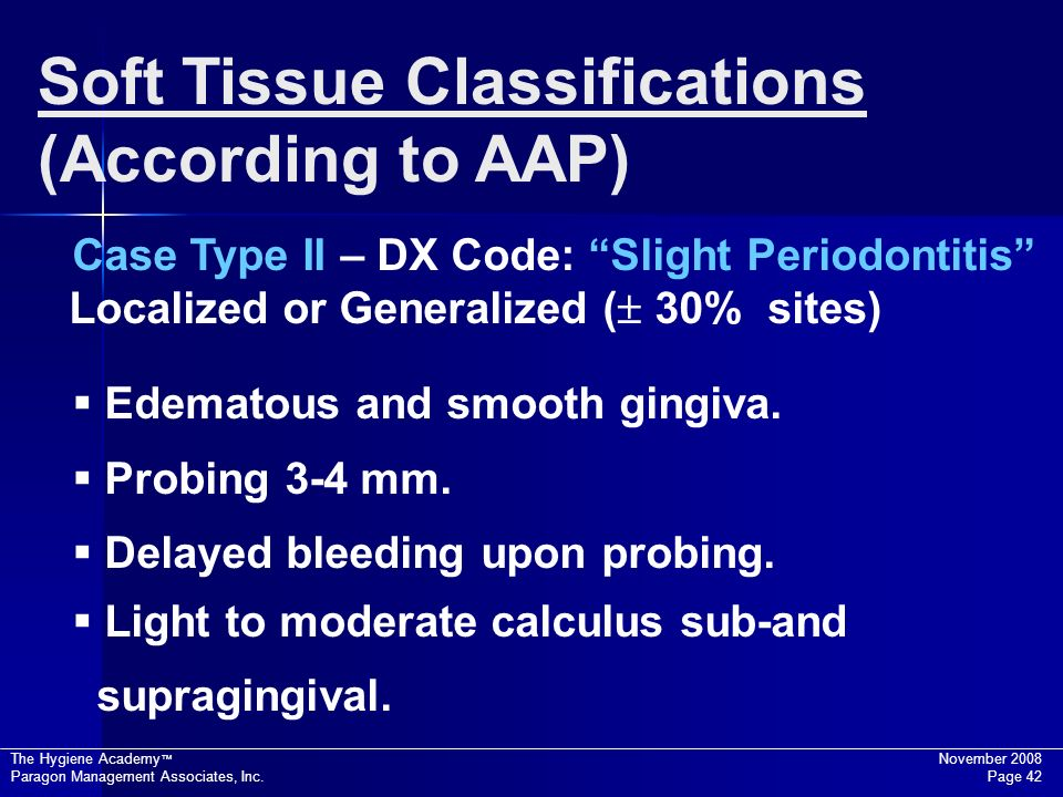 Soft Tissue Classifications (According to AAP)