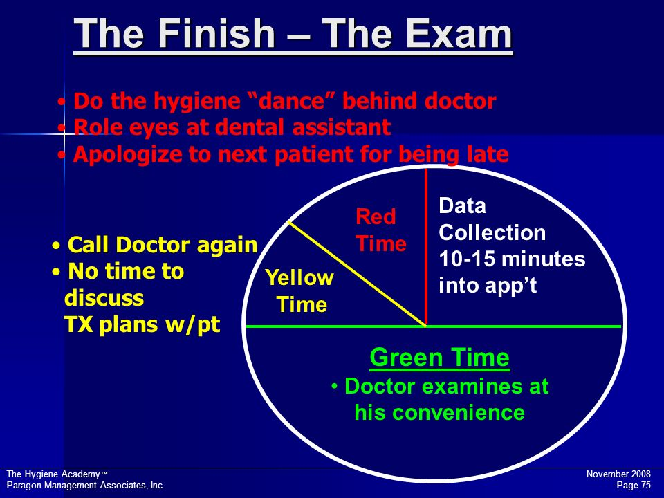 The Finish – The Exam Green Time Do the hygiene dance behind doctor