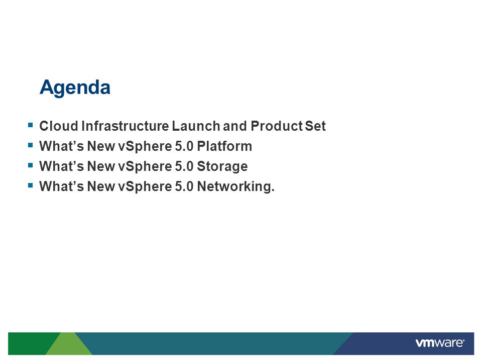 Agenda Cloud Infrastructure Launch and Product Set