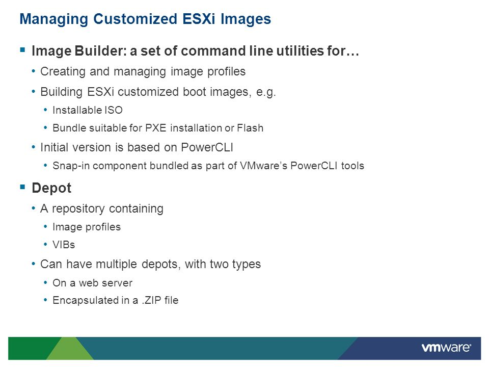 Managing Customized ESXi Images