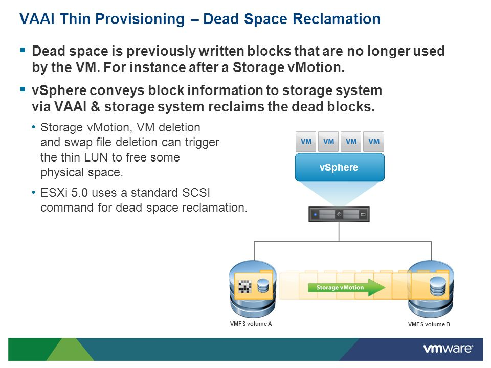 VAAI Thin Provisioning – Dead Space Reclamation