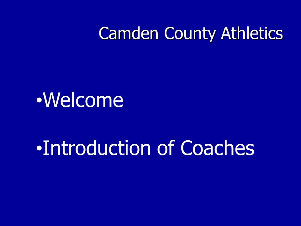 Camden County Athletics