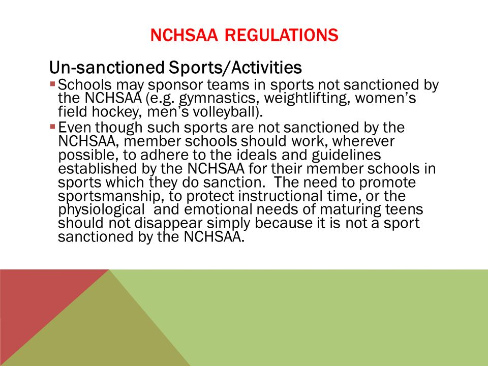 Un-sanctioned Sports/Activities